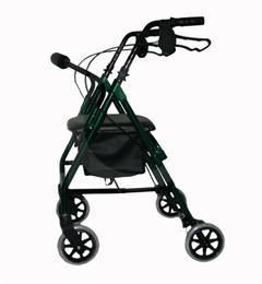 Lightweight Aluminium Safety Walker with Low Rest Seat - Green