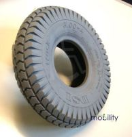 Pneumatic Scooter Tyres 3.00 x 4 (260 x 85) Block Tread BLACK or GREY