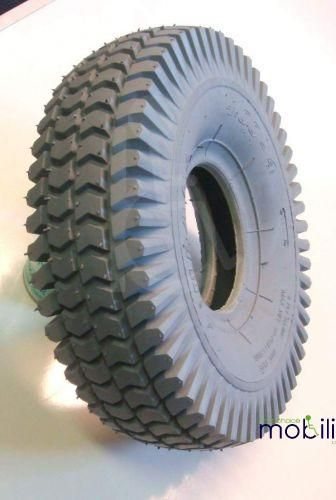 Pneumatic 400 x 4 Grey Block Tread Tyre