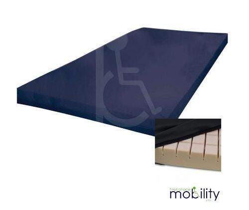 Mattress Overlay Medium Risk Castellated Foam with Waterproof Cover