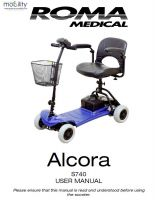 Shoprider Alcora Manual
