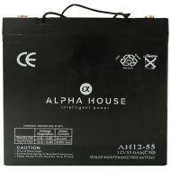 Alpha House 55AH AGM Battery
