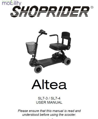 Shoprider Altea Manual