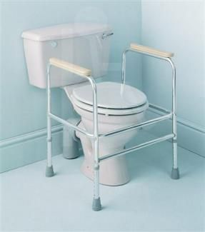 Aluminium Adjustable Height Toilet Surround