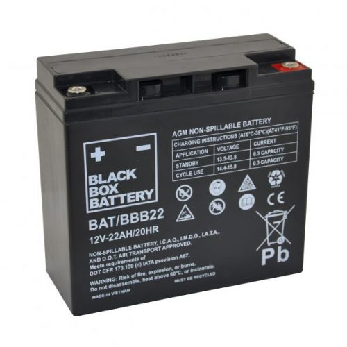 Black Box 22ah AGM Battery