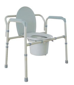 Bariatric Folding Steel Commode