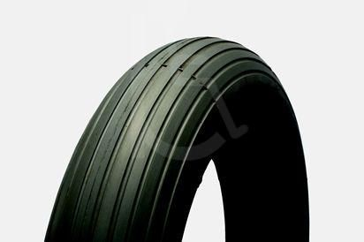 Puncture Proof Solid Scooter Tyres 3.00 x 4 (260 x 85) Rib Tread Black