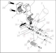 Manual Brake Set for Kymco K Activ Powerchair EW20AA