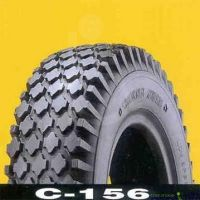 Pneumatic Scooter Tyres 410 350 x 4 C156 Tread BLACK