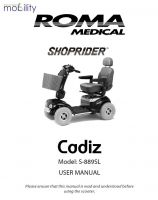 Shoprider Cadiz Manual