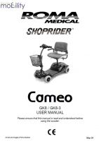Shoprider Cameo Manual
