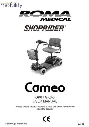 Shoprider Parts Manual
