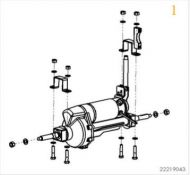 Sunrise Sterling S400 Complete Motor And Rear Axle Assembly