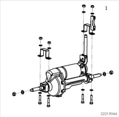 Sunrise Sterling S425 Complete Motor And Rear Axle Assembly
