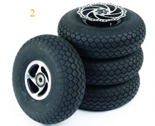 Complete Solid Wheel Set Of 4 for Sunrise S425 Mobility Scooter