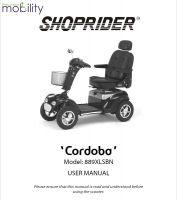 Shoprider Cordoba Manual