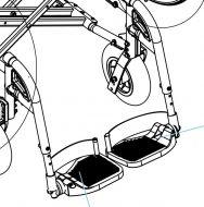 Legrest Assembly for Drive Gemini 2-In-1