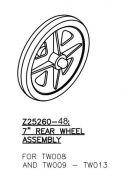 Rear Castor Wheel Assembly for Drive Steel Walkers