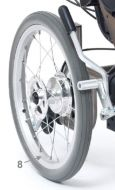 Rear Wheel and Tyre 15 Inch for Drive ID Soft Tilt In Space Wheelchair