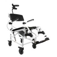 Kakadu Tilt Shower Chair and Commode with 5 inch wheels