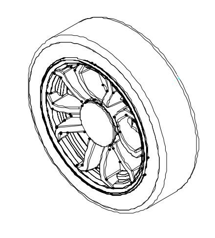 Complete Wheel Assembly for Drive Cobra