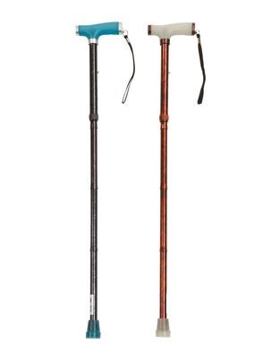 Folding Walking Stick with Glow Grip Handle