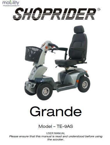 Shoprider Grande Manual