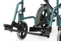 Pair Of Racing Green Footplates Complete For An Escape Lite Wheelchair