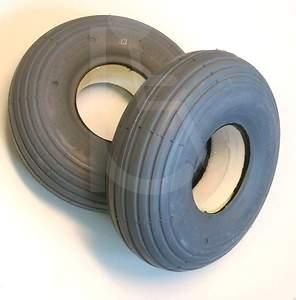 Puncture Proof Solid Scooter Tyres 3.00 x 4 (260 x 85) RIB TREAD