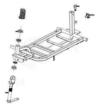Complete Frame Front End For A Kymco K-Lite EQ10DA