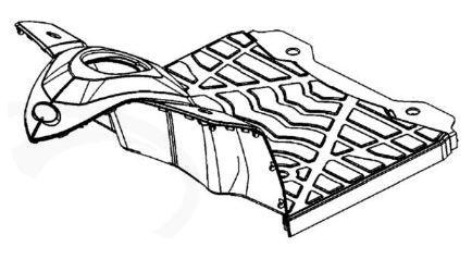 Floor Panel For A Kymco Maxer EQ40DA