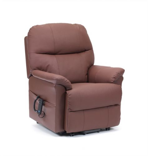 Lars Single Motor Leather Rise & Recline Armchair
