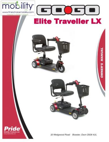 Pride Elite Traveller LX Manual