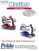 Pride Maxima Manual
