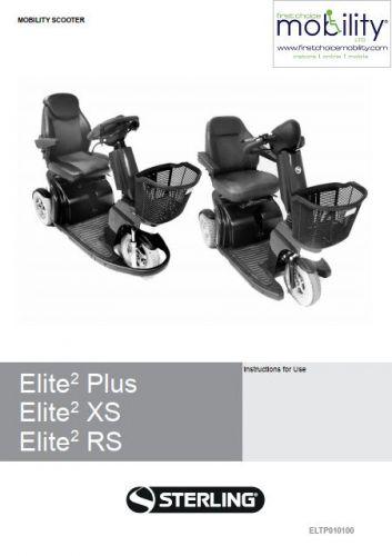Sunrise Medical Sterling Elite RS Manual