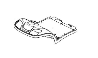 Replacement Floor Panel Cover For Kymco Midi XL for U EQ35BA
