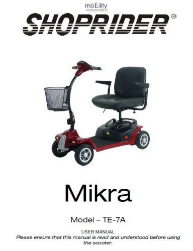 Shoprider Mikra Manual