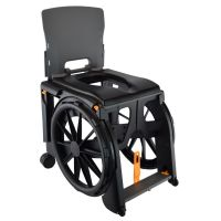 WheelAble Lightweight Travel Wheeled Commode Shower Chair