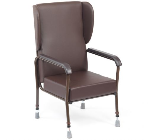 Oakham Chair with Wings and Vinyl Arm Pads High Back Chair