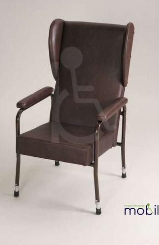 Adustable High Back Chair with Wings and Padded Arms