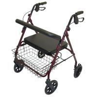4 Wheeled Steel Bariatric Safety Walker 28.5 or 50 stone max user weight