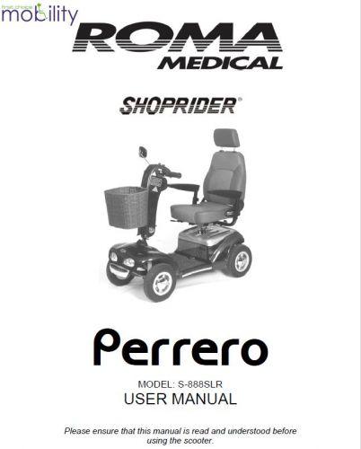 Shoprider Perrero Manual