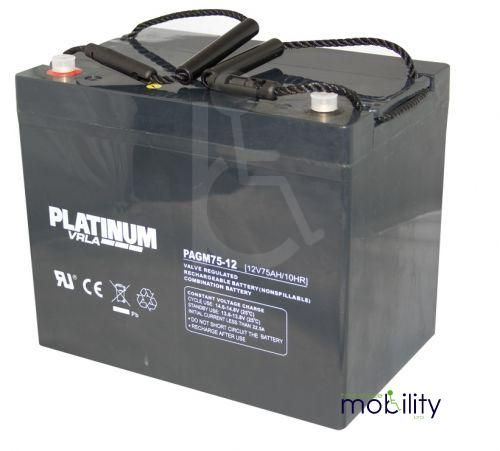 Platinum 12 Volt 75 Ah Battery