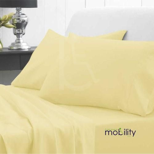 Waterproof Bedding Double Fitted Sheet Delicate Yellow