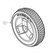 Front Wheel Complete for Pride Apex Rapid