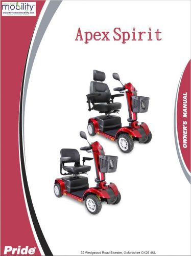 Pride Apex Spirit Manual