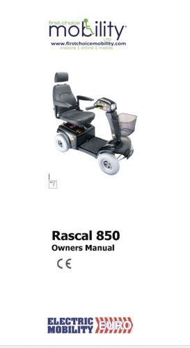 Electric Mobility Rascal 850 Manual