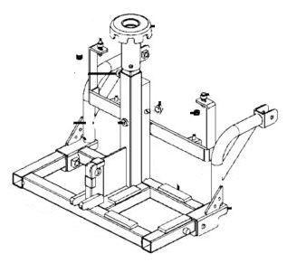 Rear Frame Assembly for Kymco FORU Midi XLS EQ35BC