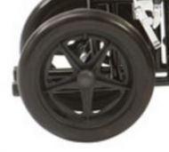 Rear Wheel for Drive Bariatric Transport Wheelchair