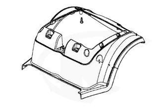 Rear Bottom Shroud For A Kymco FORU Midi XLS EQ35BC